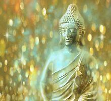 Glowing Meditating Buddha by Elizadearg