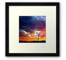 Amazing sky.. Colors Framed Print