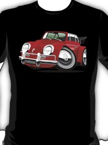 VW Beetle Convertible Cabriolet red T-Shirt