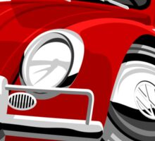 VW Beetle Convertible Cabriolet red Sticker