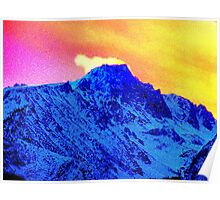 Mt. Langley Windy Sunset Poster