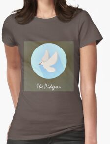 The Pidgeon Cute Portrait Womens Fitted T-Shirt