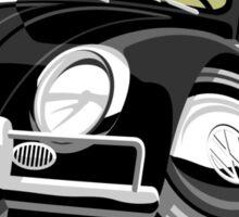 VW Beetle Convertible Cabriolet black Sticker
