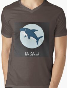 The Shark Cute Portrait Mens V-Neck T-Shirt