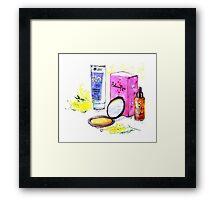 Cosmetics Framed Print