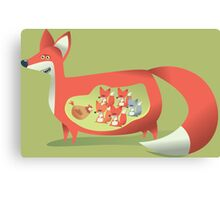 Fox Club Canvas Print