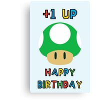Happy Birthday - one UP Canvas Print