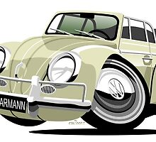 VW Beetle Convertible Cabriolet cream by car2oonz