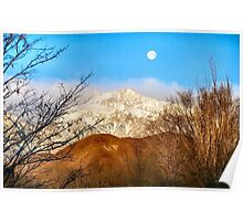Moon over LP hill Poster