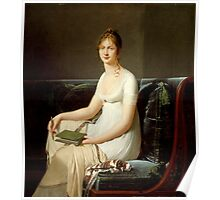 Robert-Jacques Lefevre - Portrait of a Woman Holding a Pencil and a Drawing Book Poster