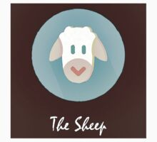 The Sheep Cute Portrait Baby Tee