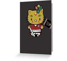Hello Kitty Blackhawks Greeting Card