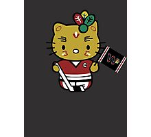 Hello Kitty Blackhawks Photographic Print