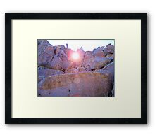 Sunset through a hole Framed Print