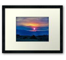 Socal fire sunset Framed Print