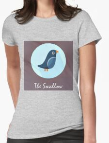 The Swallow Cute Portrait Womens Fitted T-Shirt