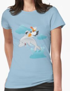 Duck & Dolphin Womens Fitted T-Shirt