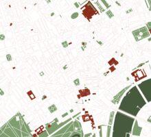 London minimal map Sticker