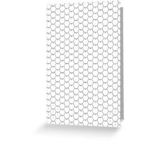 POSTER; 16x20 HEXES Blacklines on WHITE. Black numbers Greeting Card