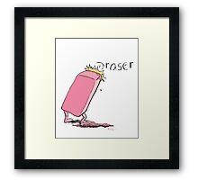 Eraser Framed Print