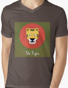 The Tiger Cute Portrait Mens V-Neck T-Shirt