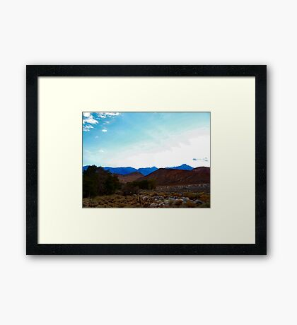 Sunet over the Alabama Hills Framed Print