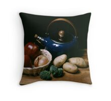Still Life with Blue Teapot Throw Pillow
