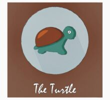 The Turtle Cute Portrait One Piece - Short Sleeve
