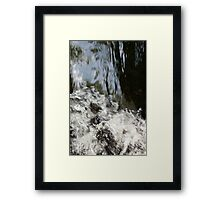 water rush Framed Print