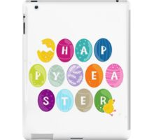 happy easter colorful eggs with little chicken iPad Case/Skin