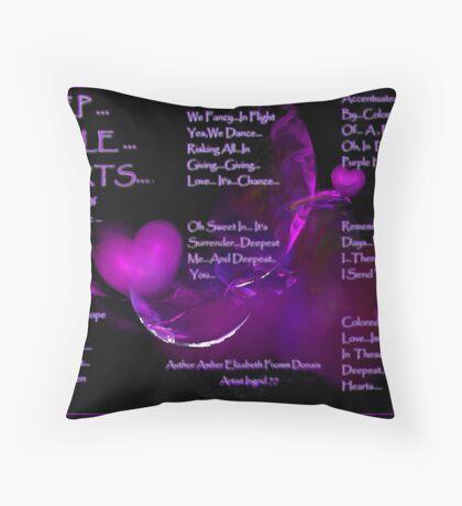Deep...Purple... Hearts... Throw Pillow