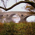 Misty fall at Kenmore Bridge. by Allan McKean