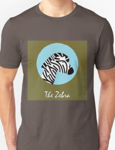 The Zebra Cute Portrait Unisex T-Shirt