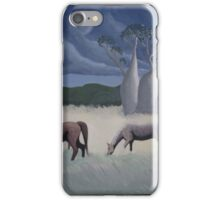 Horses and Boabs iPhone Case/Skin
