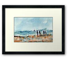 Cresting the Wave Framed Print