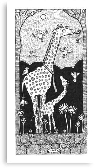 Jolly Giraffes by Anita Inverarity