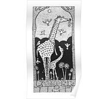 Jolly Giraffes Poster