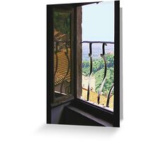 Italian room with a view. Greeting Card
