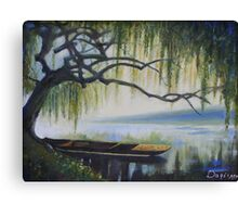 Willow Boat Canvas Print