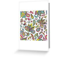 Summer Indian Pattern Greeting Card
