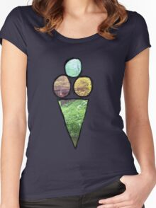 Ice Cream Nature Women's Fitted Scoop T-Shirt