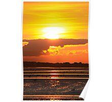 Coucher de soleil en Nomandie Poster