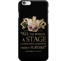 Shakespeare As You Like It Stage Quote iPhone Case/Skin