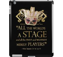 Shakespeare As You Like It Stage Quote iPad Case/Skin