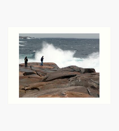 Wave Watchers Art Print