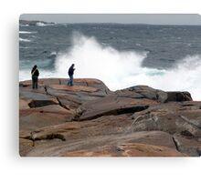 Wave Watchers Canvas Print