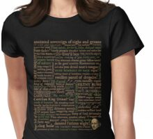 Shakespeare Insults T-shirt - Revised Edition (by incognita) Womens Fitted T-Shirt