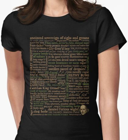 Shakespeare Insults Dark - Revised Edition (by incognita) Womens Fitted T-Shirt