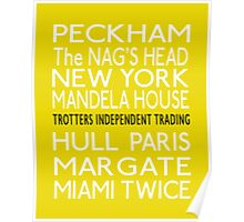 Only Fools and Horses Bus Blind Print Poster