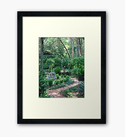 On the way to the Secret Garden       Framed Print